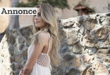 Hvid blondekjole